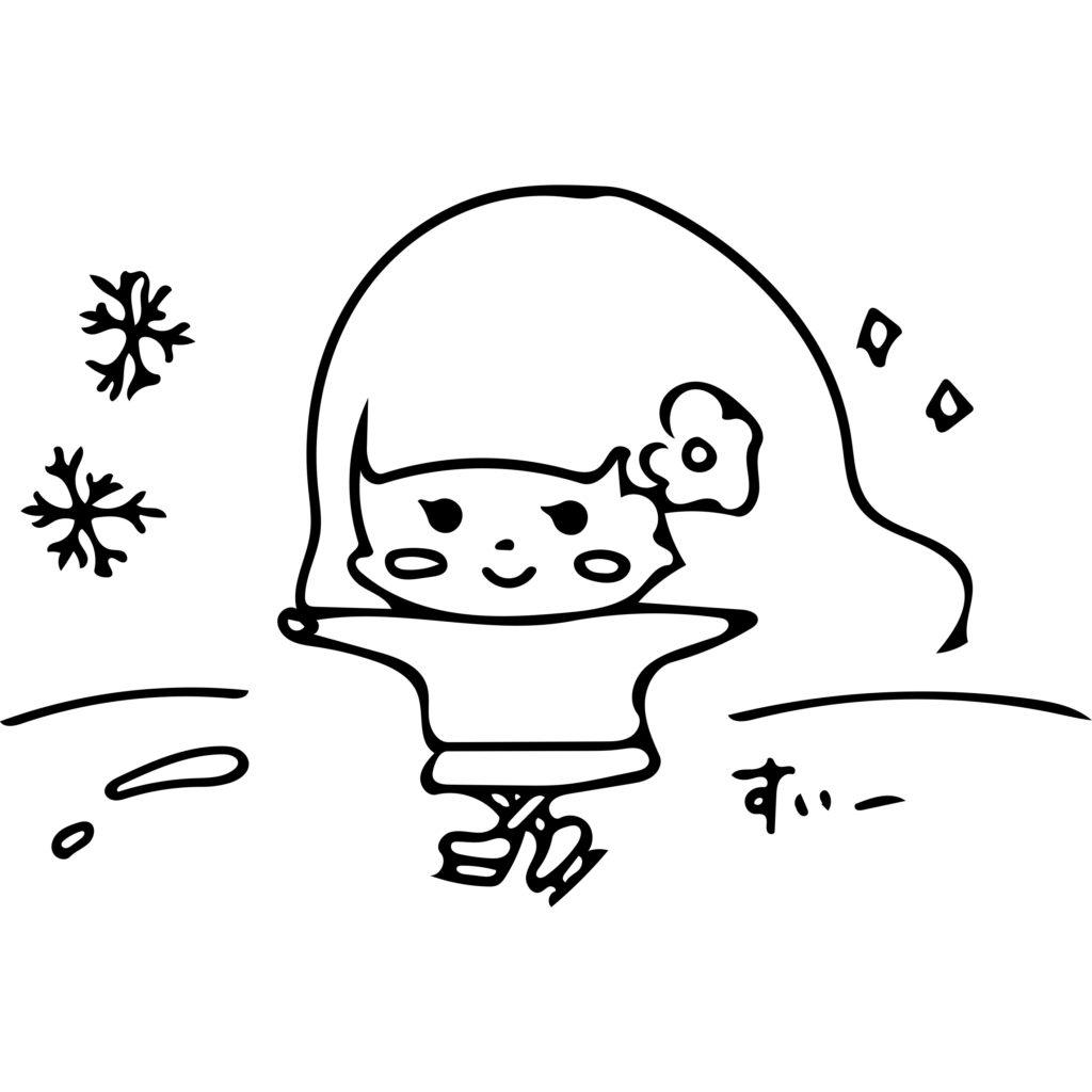 咲恵先生スケートイラスト